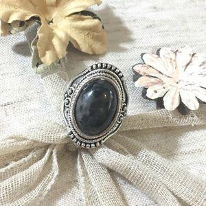 Jewelry - Majestic Boho Style Stone Silver Ring
